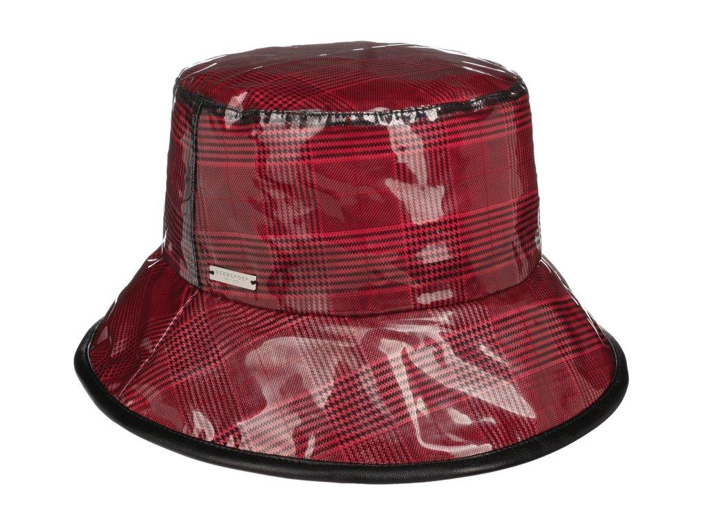 Dámský nepromokavý klobouk - červený - Bucket Hat