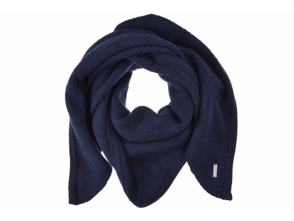Dámská modrá zimní šála - šátek od Seeberger - kolekce Lelica
