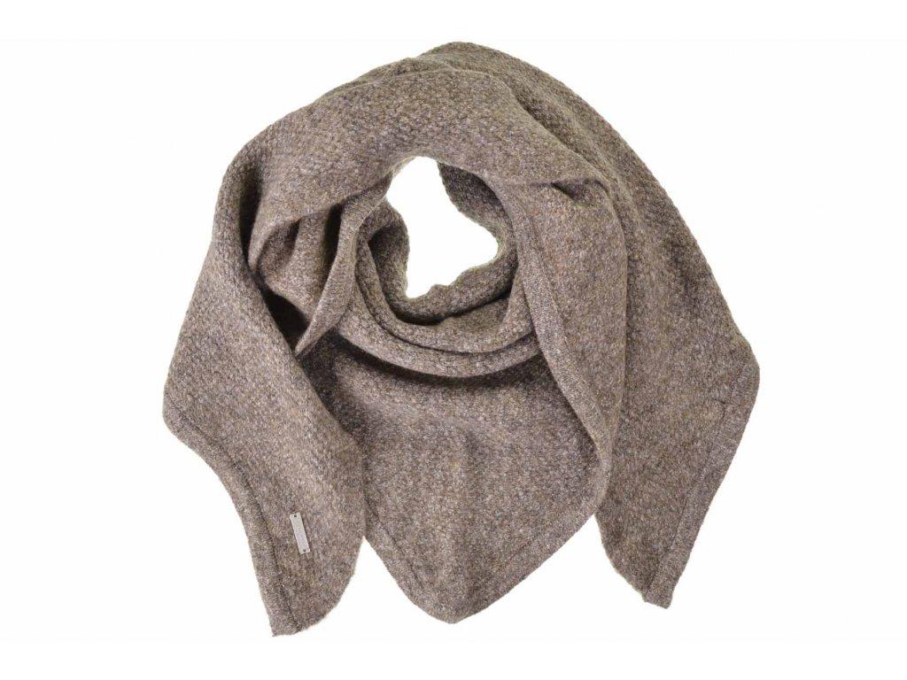 Dámská hnědá zimní šála - šátek od Seeberger - kolekce Lelica