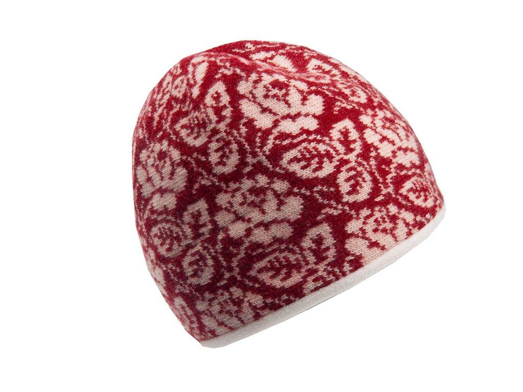 Vlněná červená čepice Orozi Tonak - výprodej