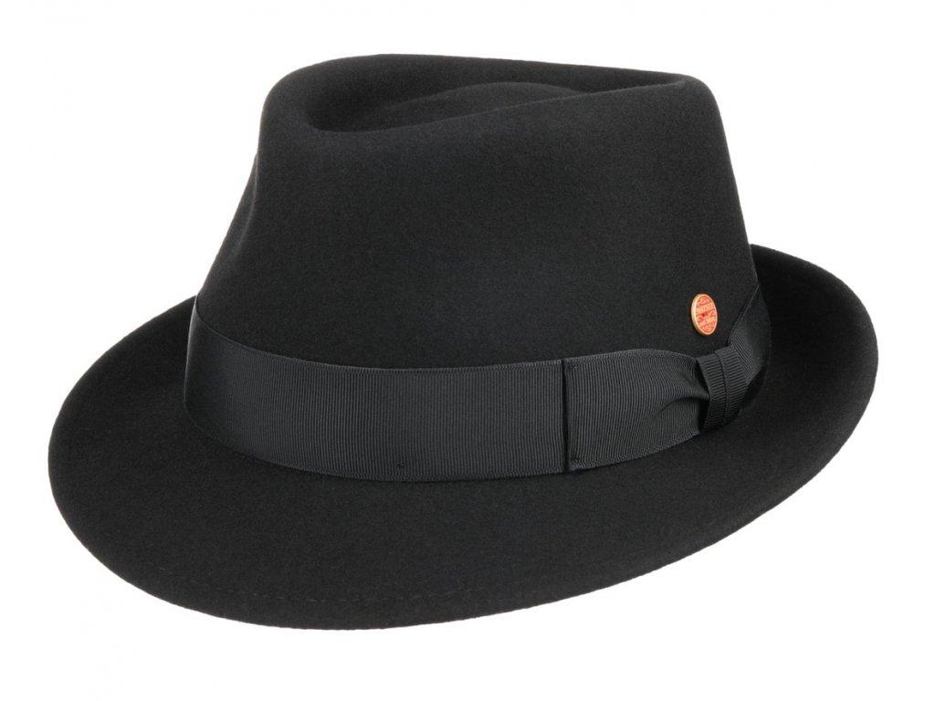 Klasický černý  klobouk Mayser -Troy Mayser
