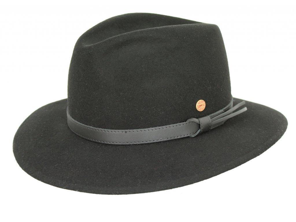 Cestovní nemačkavý voděodolný černý klobouk Mayser - Marvin Mayser