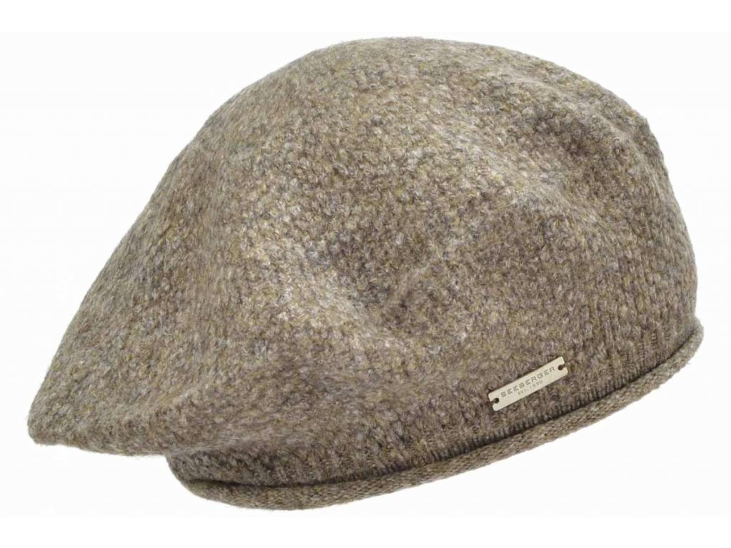 Baret hnědý zimní dámský - Seeberger - kolekce Lelica