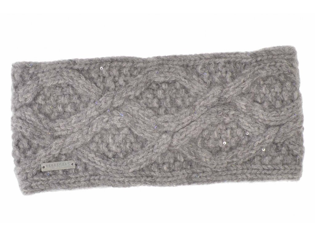 Dámská luxusní zimní kašmírová čelenka s flitry