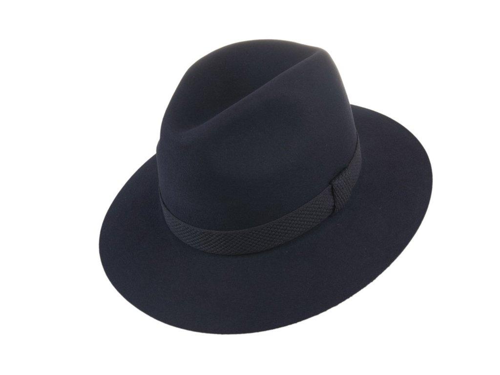 Decentní vycházkový modrý klobouk - Tonak 100031