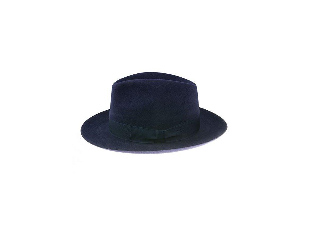 Luxusní plstěný klobouk - Fedora Tonak 11580/13 - modrá barva