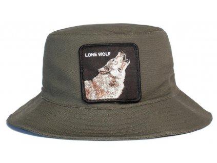 Zelený  bavlněný bucket hat -  Goorin Bros Howl You Doing