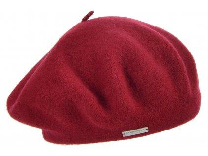 Baret červený dámský - Flora - 0022