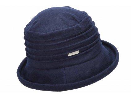 Dámský modrý měkký vlněný klobouk cloche - Bucket Hat