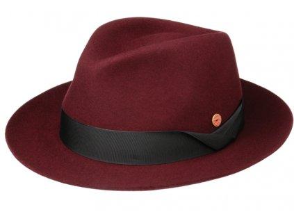 Luxusní bordó klobouk Mayser - Samuel Mayser