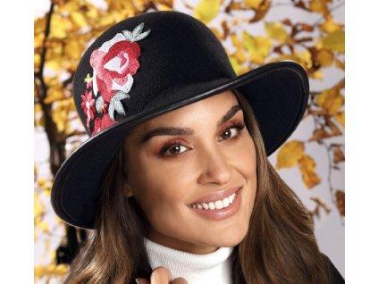 Dámský černý vlněný klobouček - Nerenasa