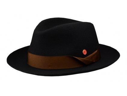 Luxusní černý klobouk Mayser - Samuel Mayser