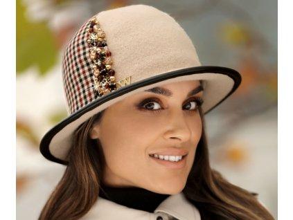 Dámský béžový vlněný klobouček - Tanela Willi