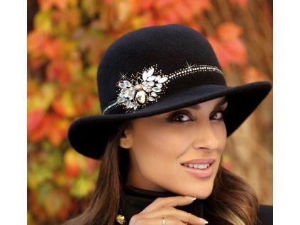 Dámský černý vlněný klobouček - Willi Totival