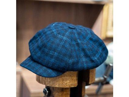 Modrá kostka - vlna s kašmírem - bekovka Carlsbad Hat Co.