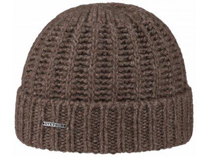 Zimní čepice Stetson - hnědá - Jačí vlna