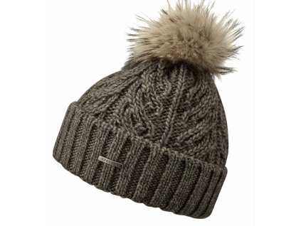 Zimní čepice s bambulí - Stetson - Beanie Racoon - hnědá
