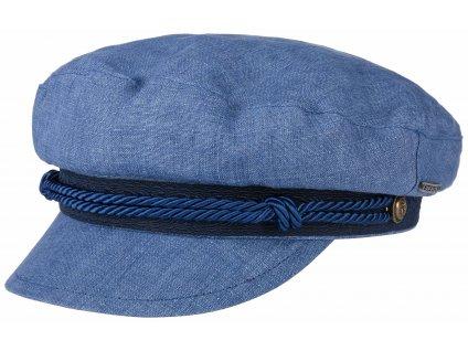 Námořnickákapitánka - Riders Cap Linen - modrá lněná