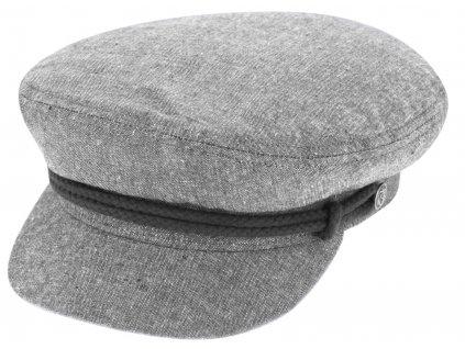 Námořnickákapitánka - Riders Cap Cotton - šedá bavlněná