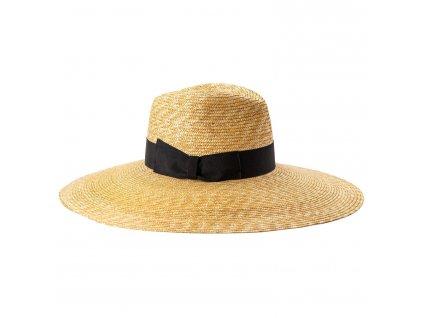 Letní Fedora velká krempa - Carlsbad Hat Co. nová kolekce s černou stuhou