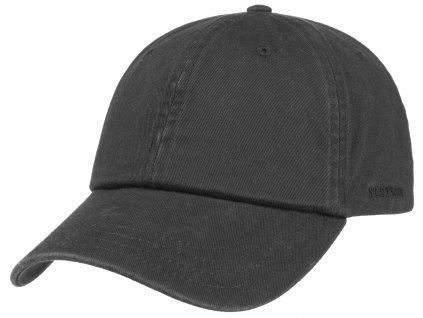 Bavlněná klasická kšiltovka Stetson - Baseball Cap Cotton - černá