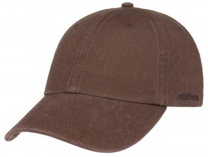 Bavlněná klasická kšiltovka Stetson - Baseball Cap Cotton - hnědá
