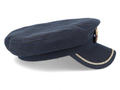 Námořnickákapitánka - Fisherman Cap Cotton - modrá