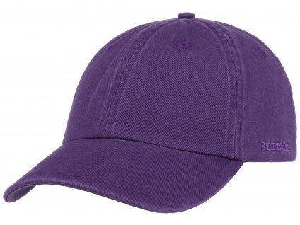 Bavlněná fialová klasická kšiltovka Stetson - Baseball Cap Cotton