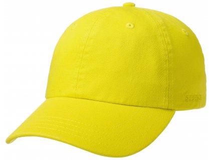 Bavlněná klasická kšiltovka Stetson - Baseball Cap Cotton - žlutá