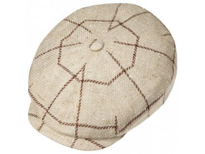 Hatteras Silk Wool Check Flat Cap by Stetson.55467 1pf15