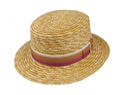 34802 nat pink 1 slameny klobouk natur