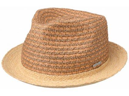 Slaměný klobouk Stetson - Trilby Cottone - dvoubarevný - 1398504