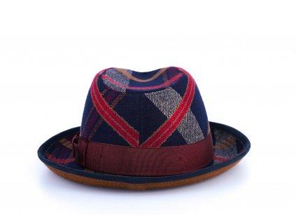 Vlněný látkový klobouk trilby - Alfonso d'Este - ušní klapky -25698