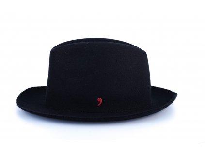 Unisex černý klobouk Alfonso d´Este 25691