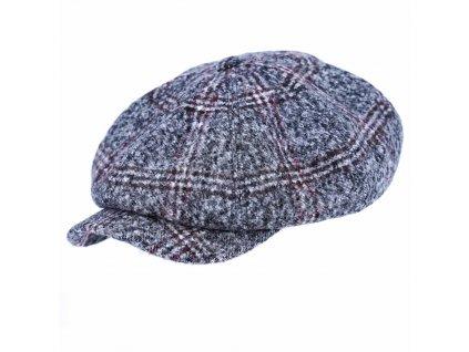 Zimní kostkovaná tvídová bekovka - Carlsbad Hat Co.