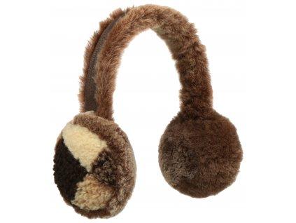 Hřejivé klapky na uši s umělou kožešinou - 9295903