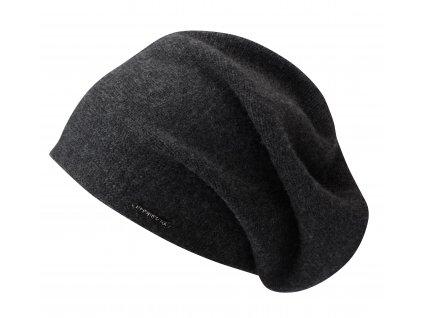 Černá kašmírová čepice od Stetson Long Beanie Cashmere 8699203