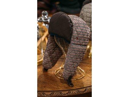 Unisex vlněná ušanka (kohoutí stopa) Alfonso d'Este 25695