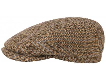 Bekovka Stetson - Driver Cap panenská vlna- Driver Cap Virgin Wool Herringbone  - 6380506