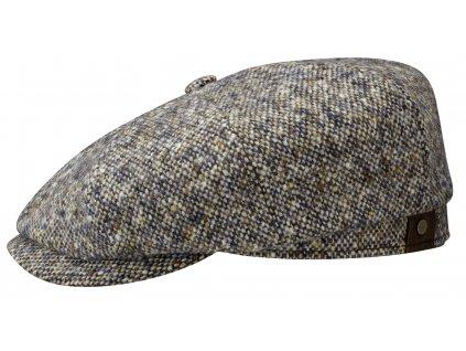 Zimní teplá tvídová vlněná bekovka - Hatteras od Stetson 6840606 (S UŠNÍ KLAPKAMI)  Vlna
