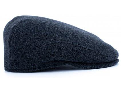 Pánská vlněná zimní šedá bekovka (ušní klapky) - Driver cap Personality 281415 - BESTSELLER
