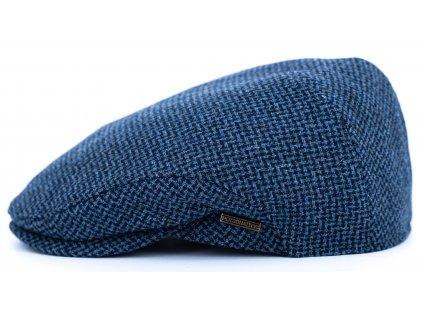 Pánská vlněná zimní modrá bekovka  - Driver cap Personality