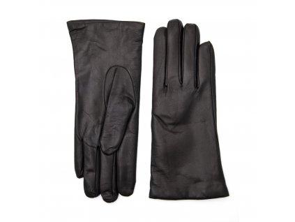 Dámské černé kožené rukavice vlněná podšívka - BOHEMIA GLOVES - 814-9656