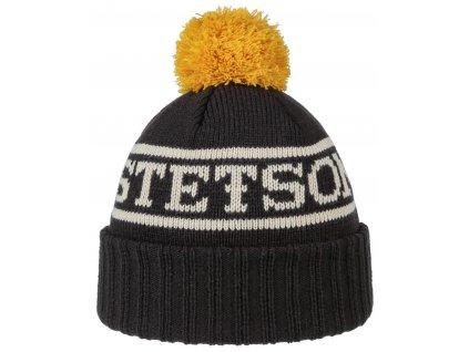 Zimní pletená čepice s pomponem - Stetson - Beanie Pompom - 8599123