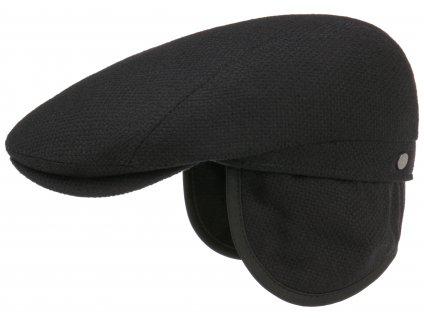 Černá pánská bekovka Lierys (ušní klapky) - vlna a kašmír - 6130102
