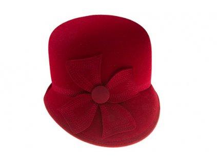 Červený asymetrický dámský klobouk Tonak 52786/15