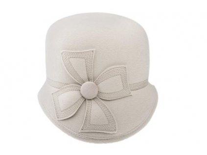 Smetanový asymetrický dámský klobouk Tonak 52786/15