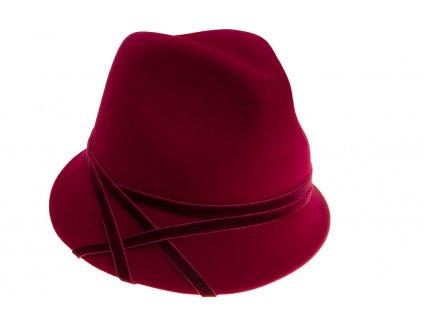 Bordó dámský klobouk od Tonak 53500/18