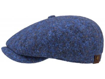 Bekovka Hatteras od Stetson 6840601  100 % vlna - modrý Tweed Donegal -  NOVINKA