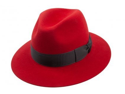 Červený plstěný unisex klobouk TONAK  11775/14